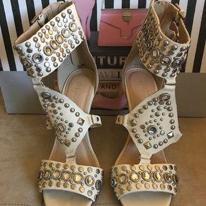 Aldo cream studded sandals
